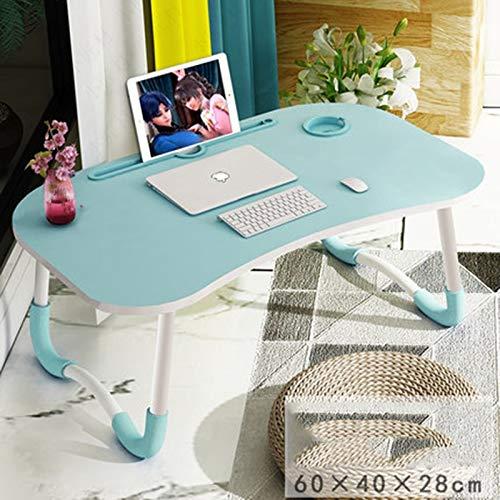 Yuanyuanliu Bureau D'ordinateur De Bureau D'étude Lit Petite Table avec Un Bureau Pliable Dortoirs des Étudiants Paresseux for Faire (Color : Blue)