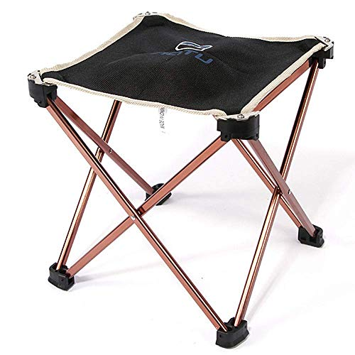 DJ-campingstoelen, inklapbaar, kruk, camping, voor zware personen, lichte campingkruk, strandstoel, Sketch Chair kruk, inklapbaar