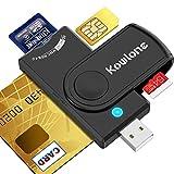 Kowlone Lettore di Schede Smart, SIM/SD/Micro SD(TF) Adattatore Dod Military USB Type-C Common Access CAC/Governo ID/IC Lettore di Schede e-Tax Compatibile con Windows XP/Vista/Mac OS/Linux