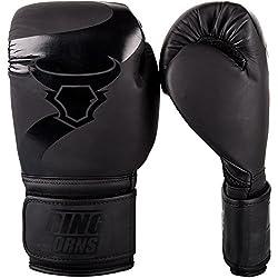 Ringhorns Charger Boxing Gloves, Black / Black, 14oz