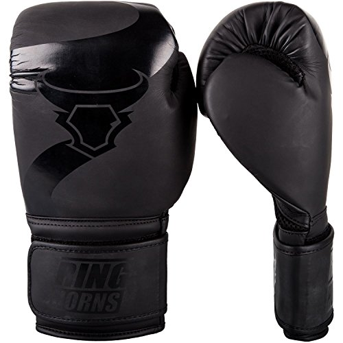 Ringhorns Charger Gants de Boxe Mixte Adulte, Noir/Noir, 14oz