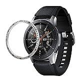 BAOBAO QUELLIA for Samsung Gear S3 Edelstahl + Diamant-Uhr-Kasten-Stahlfelge (schwarz) (Color : Silver)