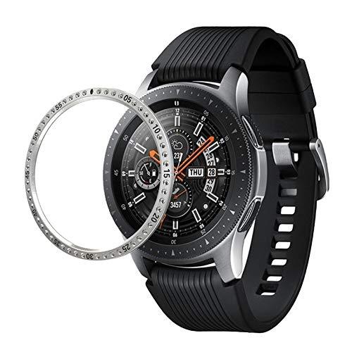 NO BRAND YAN Erwei for Samsung S3 Engranaje de Acero Inoxidable Reloj de Diamantes + Caso de llanta de Acero (Negro) (Color : Silver)