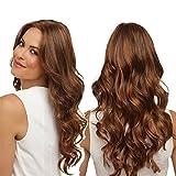 Ombre, parrucca sintetica capelli castani lunghi, parrucca sintetica capelli lunghi per donna, parrucca riccia, parrucca sintetica, parrucca per cosplay, per ragazze, capelli castani 61 cm