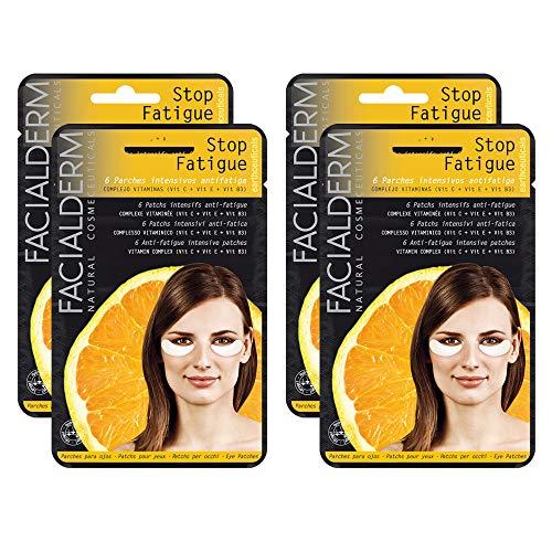 Facialderm - Parches Ojos Antifatiga con Vitamina C, Pack 4 unidades   Parches Antiojeras Fatiga