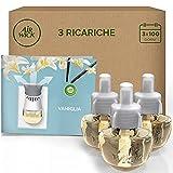Airwick Diffusore Oli Essenziali Elettrico, 1 Confezione 3 Ricariche, Fragranza Vaniglia Thè Bianco - 55
