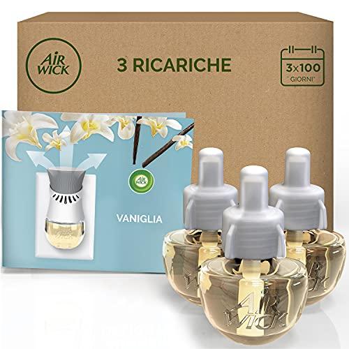 Airwick 3 Ricariche per Diffusore Elettrico di Oli Essenziali, Fragranza Vaniglia Thè Bianco