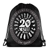 Yuanmeiju Bolsos con cordón Sport Gym Sack Party Favor Bags Wrapping Gift Bag Mochila con cordóns Storage Goodie Bags Cinch Bag Kicks Shuta Sueyoshi Feat