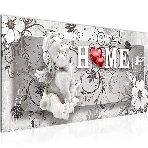 Bilder Engel Vintage Wandbild 100 x 40 cm Vlies - Leinwand Bild XXL Format Wandbilder Wohnung Deko Kunstdrucke - MADE IN GERMANY - Fertig zum Aufhängen 030812c