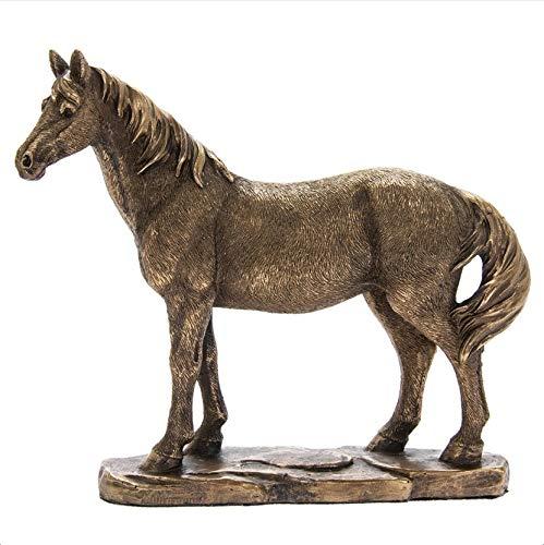 The Leonardo Collection LP46000 Reflections Bronzed Horse Ornament, 18x5x15cm