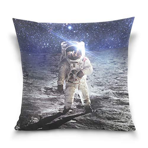 FULUHUAPIN Fundas de cojín de lana de algodón con diseño de estrella espacial de astronauta 2030194