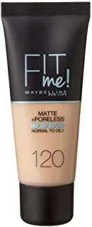 Maybelline Fit Me Foundation Matte +Poreless 120 Classic Ivory 30ml