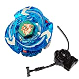 Battling Toys - Ultimate Meteo L-Drago Rush Blue Metal Fusion Fight Starter Pack Set with Launcher & Ripcord