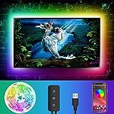 Retroilluminazione LED TV 5050 Controllo app Strisce luminose RGB Sincronizzazione musicale Cambio colore Bias Illuminazione per 55-70 pollici, alimentazione USB per PC Monitor Sala giochi