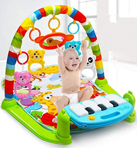 Gimnasio Piano Pataditas para Bebé, Marbeine Manta de Juego Musical Estante De Fitness con Pedal De Música Alfombra de Aprendizaje (Estilo A-Verde)