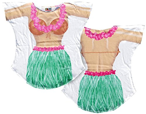 Hula Girl Cover-Up T-Shirt Size L/XL