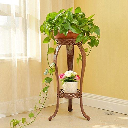 Porte-fleurs Grilles de fleur de fer forgé de style européen, multi-étages Green Spider Lava salon balcon étage intérieur pot de fleurs Support de fleurs ( Couleur : Marron )