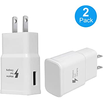 Recharger Kit Include 2 x Charging Adapter /& 2 x Micro-USB Cable Adaptive Fast Charger Aolerx Fast Charging Wall Charger Kit Compatible with Samsung Galaxy S7//S7 Edge//S6//Note5 White