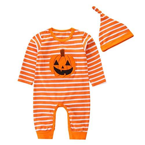 Julhold - Conjunto de ropa para bebé de 3 a 24 meses, diseño a rayas de algodón Arancione 12- 24 meses