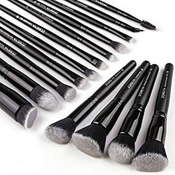 black and white makeup brushes