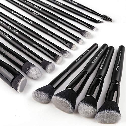 Zoreya Makeup Brushes 15Pcs Makeup Brush Set Premium Synthetic Kabuki Brush Cosmetics Foundation Concealers Powder Blush Blending Face Eye Shadows...