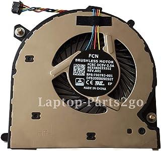 TB® Ventilador de refrigeración de repuesto para HP EliteBook 740 G1 740 G2 840 G1 840 G2 850 G1 850 G2 Laptop CPU Ventila...