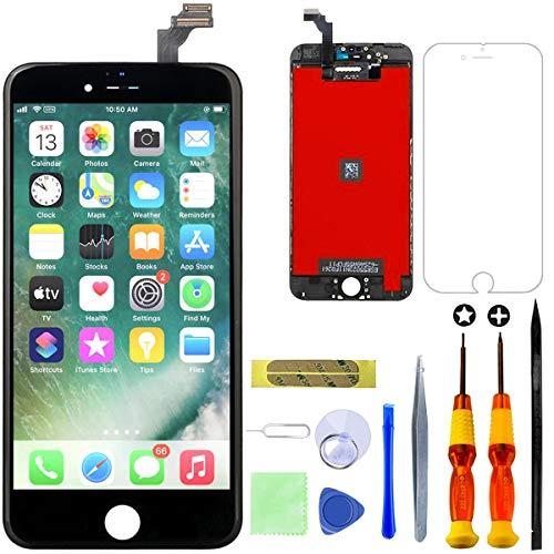 GULEEK Kompatibel mit iPhone 6 Plus Display Ersatzset LCD Touchscreen mit Reparaturanleitung und komplett kostenlosem Tool (Schwarz)