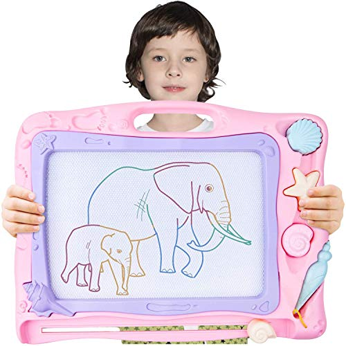 """Automoness Magnetic Drawing Board Large, Erasable Doodle Board Writing Painting Sketch Pad for Kids with 3 Stamps and 1 Pen Children Toddlers Toys 16.53 """"x 12.28""""x 1.65"""""""