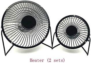 WULUANMING Calentador, Invierno Pequeño Calentador Solar, Hogar De 6 Pulgadas Mini Calentador De La Parrilla De Sobremesa Estufa (2 Unidades)