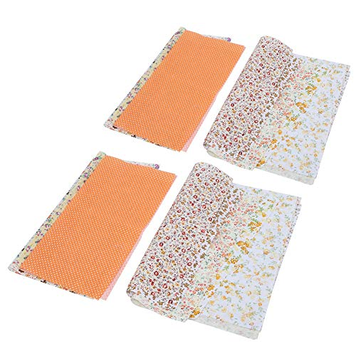 Paquete de tela artesanal de algodón de 14 piezas, patchwork, cuadrados, acolchado, costura, telas florales, diferentes patrones, tela de patchwork, 25x25cm