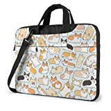 Corgi Dog Impreso Laptop Bag, Bolso Business Laptop Shoulder Messenger Bag Maletín