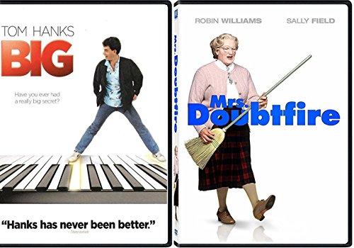 Mrs. Doubtfire + Big DVD Fun Comedy 80's movie Set Double Feature