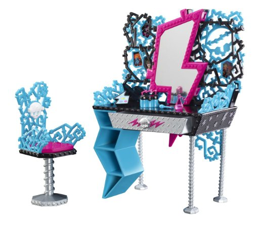 Mattel Monster High Y0404 - Mobile toletta di Frankie Steins, con tanti accessori