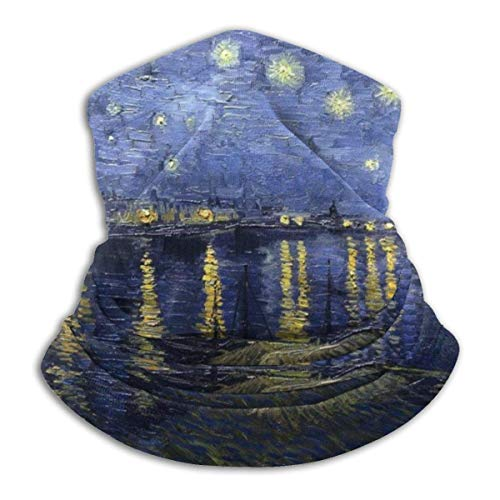 N/A Naadloos Gezichtsmasker Bandanas Nek Warmer Sjaal Gaiter Van Gogh Sterrennacht Over De Rhône Voor Stof Outdoors Festivals Sport Winddichte Mannen En Vrouwen