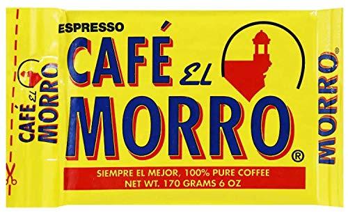 Espresso Ground Coffee - from Café El Morro. (6 oz) Gourmet Dark Roast Espresso Coffee, Pure Ground Coffee, Vacuum Pack