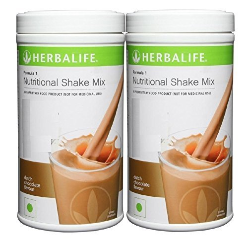 2 x 550 g Herbalife Nutritional Shake Mix Formula 1 Smooth Chocolate