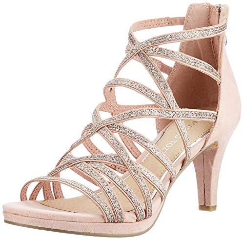 Marco Tozzi 2-2-28373-26 Damen Sandale mit Absatz, Rose Comb, 39 EU