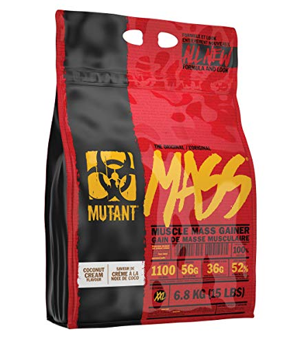 MUTANT MASS Weight Gainer Protein Powder with a Whey Isolate, Concentrate, and Casein Protein Blend, For High-Calorie Workout Shakes, Smoothies and Drinks, 6.8 kg (15 lbs) - Coconut Cream
