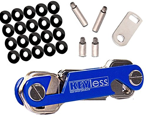 Key Holder Compact Folding Organizer for Your Keys Replace Your Bulky Keychain Ring Great Tools Has Smart Phone Stand & Has Bottle Opener Fits in Pocket Hang on Wall Extended Premium Quality Blue