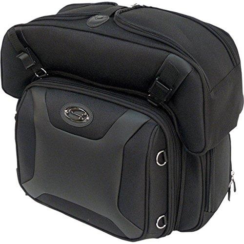 "Saddlemen 3515-0141 Sport Sissy Bar und Combo Bag, schwarz, 16"" W X15.5 H X19.5 D"