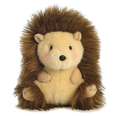 Aurora World 16812 Happy Hedgehog Rolly Pets Plush Toy (Beige/Brown/Pink) by Aurora World Ltd