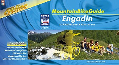 Bikeline. Cycline MountainBikeGuide Engadin. 3 Länder Rad & Bike Arena 1:35.000, wetterfest/reißfest