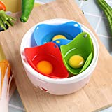 iTimo Eier-Pochierer aus Silikon, zum Backen von Eiern, Kochgeschirr, Backutensilien, Pochierutensilien, Küchenhelfer, Eierform, 1 Stück