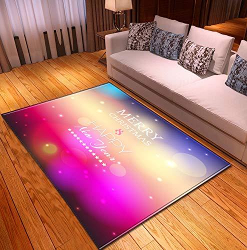 Teppich 3D Weihnachten Cartoon Gedruckt Teppiche Küche Esszimmer Kamin Bodenmatte Weihnachtsdekoration 140cmx200cm