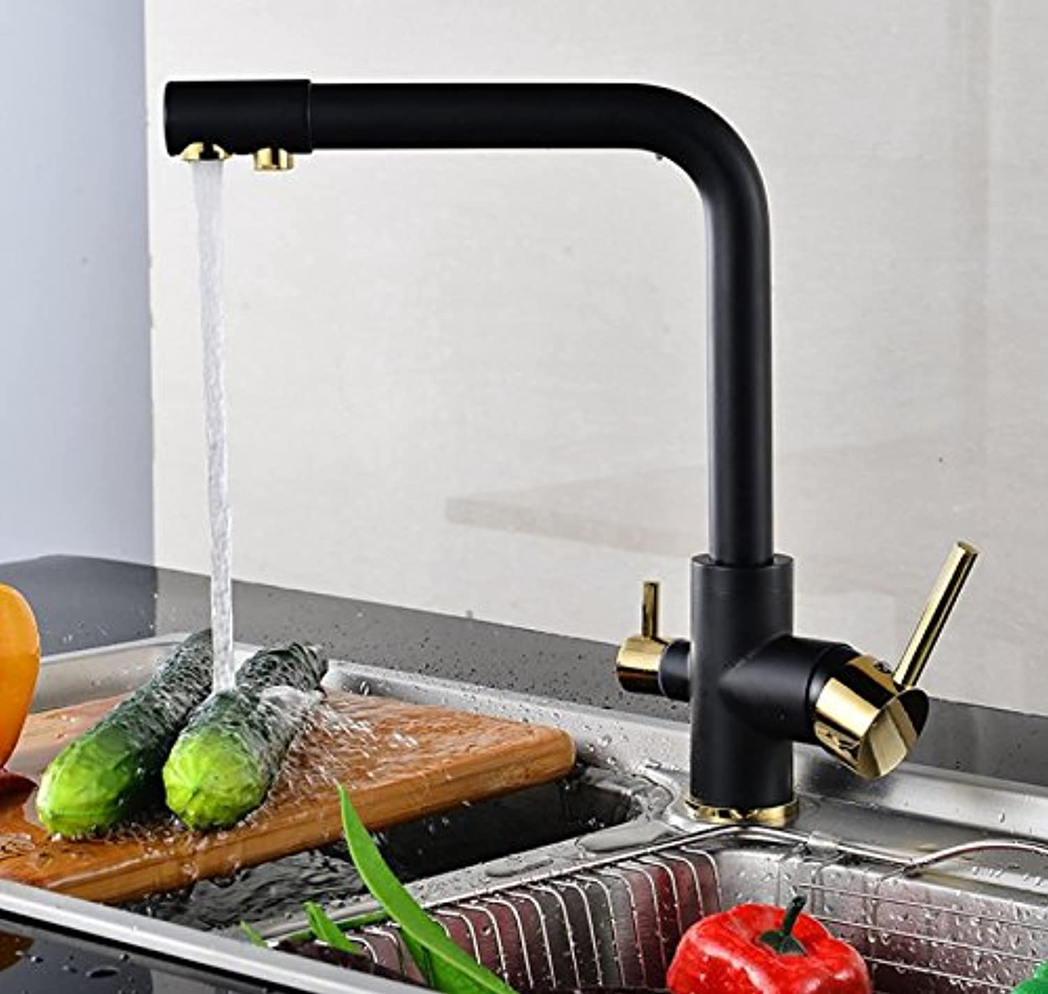 Mangeoo Faucet Three Use Pure Water Kitchen Faucets, All Copper Mixed Water Faucet, Kitchen Kitchen Faucet.