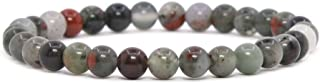 Justinstones Gem Semi Precious Gemstone 6mm Round Beads Stretch Bracelet 6.5 Inch