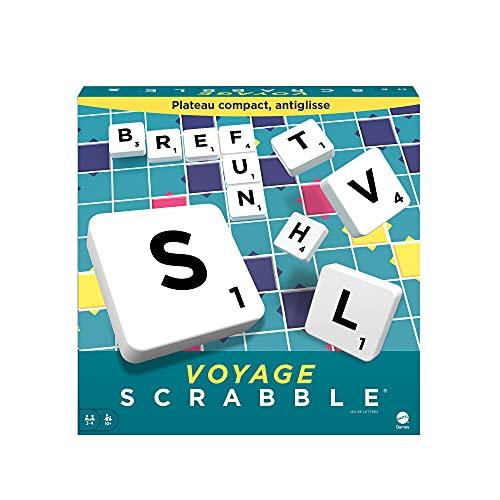 Scrabble Voyage, édition Miniature 20 x 20 cm, Jeu de Société et de Lettres, Version Française, (modèle aléatoire), CJT12
