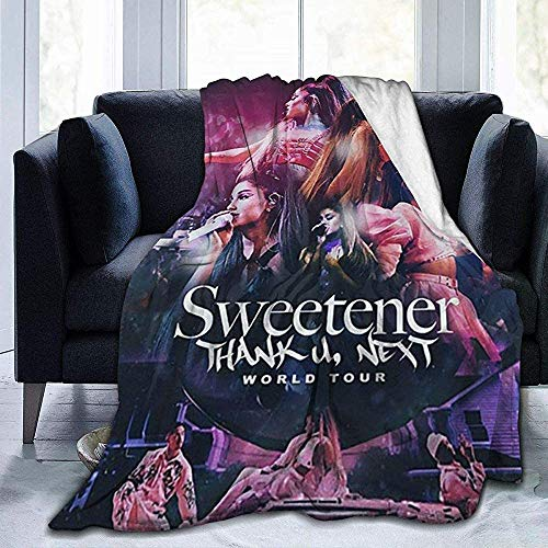 Manta de moda hipoalergénica, manta de franela ligera, manta de franela, Ari_Ana Gra_Nde de terciopelo ultra suave, manta cálida para sala de estar, sofá, escuela, cama, oficina, 150 cm x 125 cm