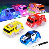 AniSqui Track Race Car, (Glow Track Coches Light Up Coche de Juguete Glow in The Dark,) Circuito Coches Juguete Niño, Coches Led Accesorios de Pista para Niños 3 4 5 6