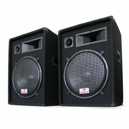 AUNA set coppia casse passive diffusori altoparlanti PA (2 x 800 Watt Max, a 3 vie, 8 Ohm)